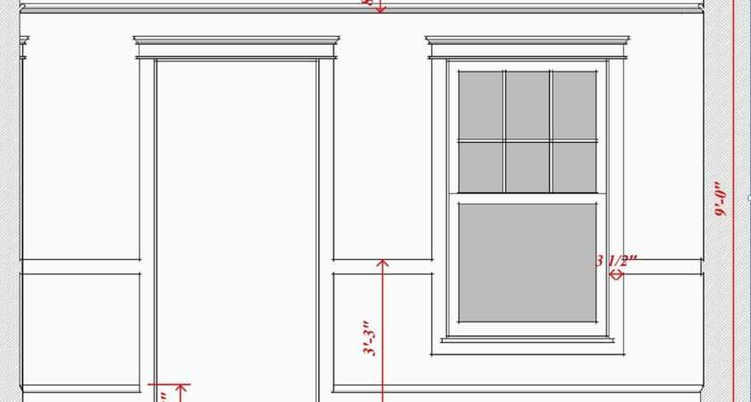 Dining Room Showing High Plate Rail Detail Favored Prairie