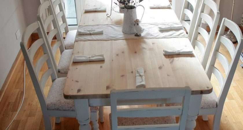 Dining Table Shabby Chic Chairs