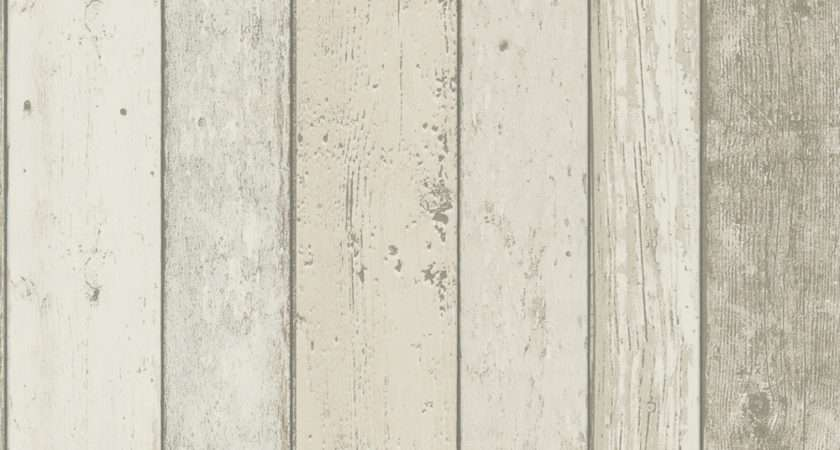 Distressed White Wood Panel Effect