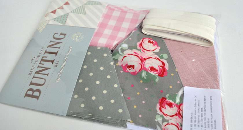Diy Bunting Kit Make Your Own Fabric Handmade
