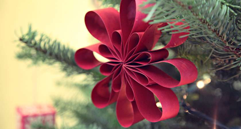 Diy Christmas Tree Handmade Ornaments Paper
