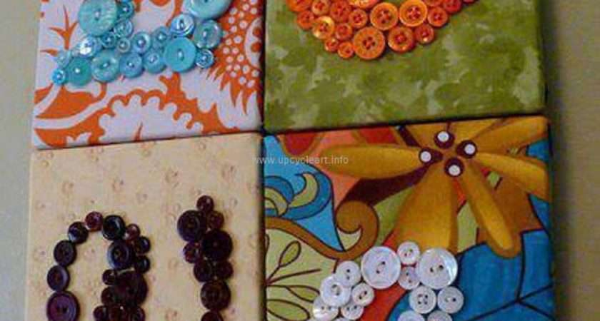 Diy Crafts Ideas Buttons Upcycle Art