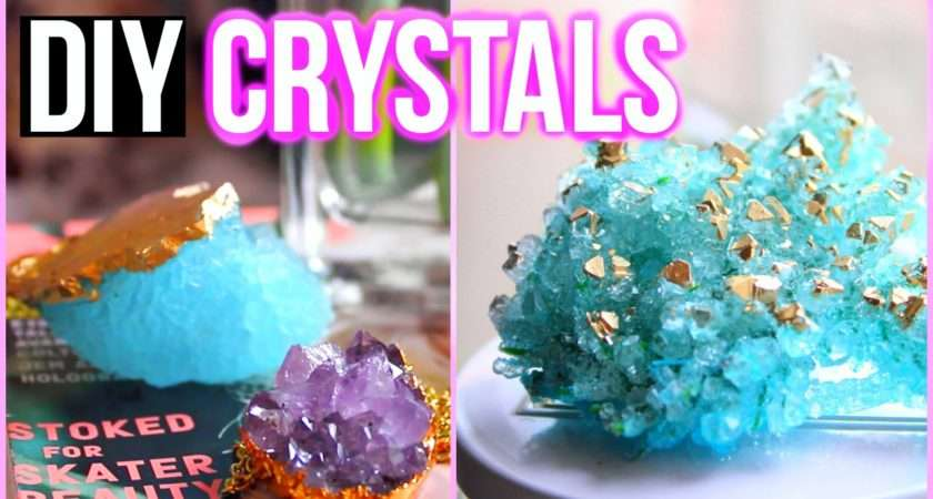 Diy Crystals Home Tumblr Inspired Room Decor Youtube