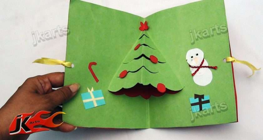Diy Easy Christmas Tree Pop Greeting Card Make School