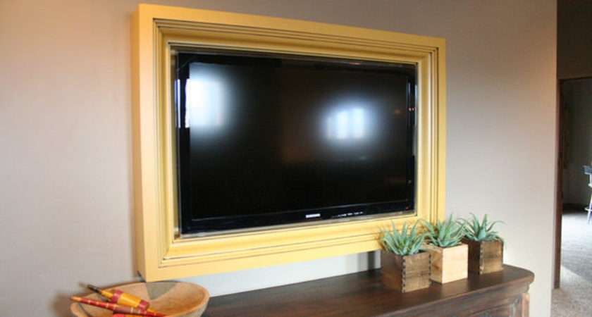 Diy Frame Disguise Flat Screen Decorating Your