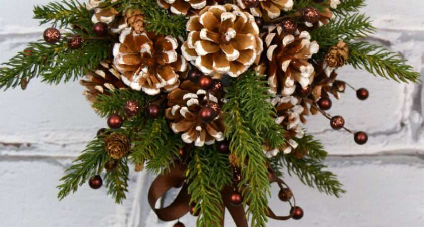 Diy Kissing Ball Pine Cones Crafts Unleashed