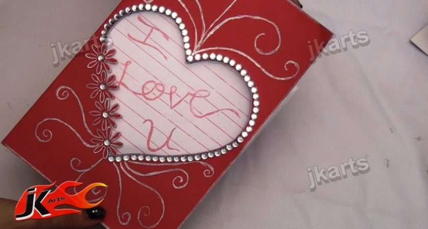 Diy Make Valentine Day Greeting Card Arts Youtube