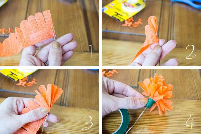 Diy Paper Flower Tutorial Step Instructions