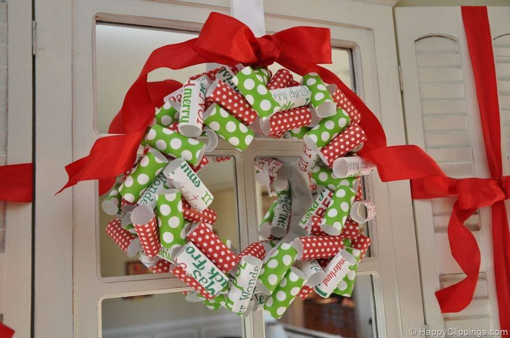 Diy Rolled Paper Christmas Wreath