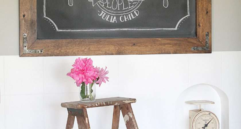 Diy Rustic Industrial Chalkboard Love Grows Wild