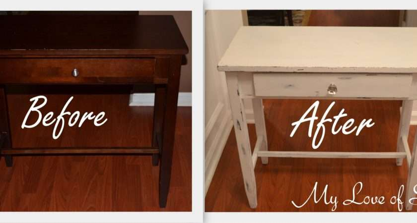 Diy Shabby Chic Table Distressing Tutorial Love Style