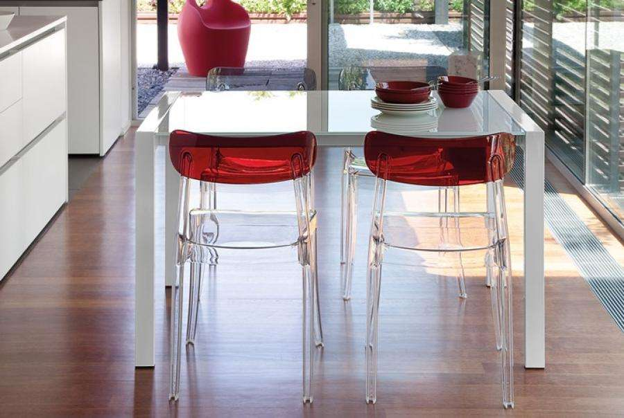 Domitalia Modern New Retro Dining Chair Polycarbonate Colour