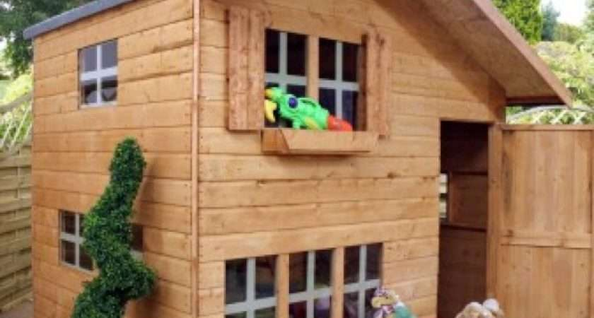 Double Storey Playhouse Kids Outdoor Play