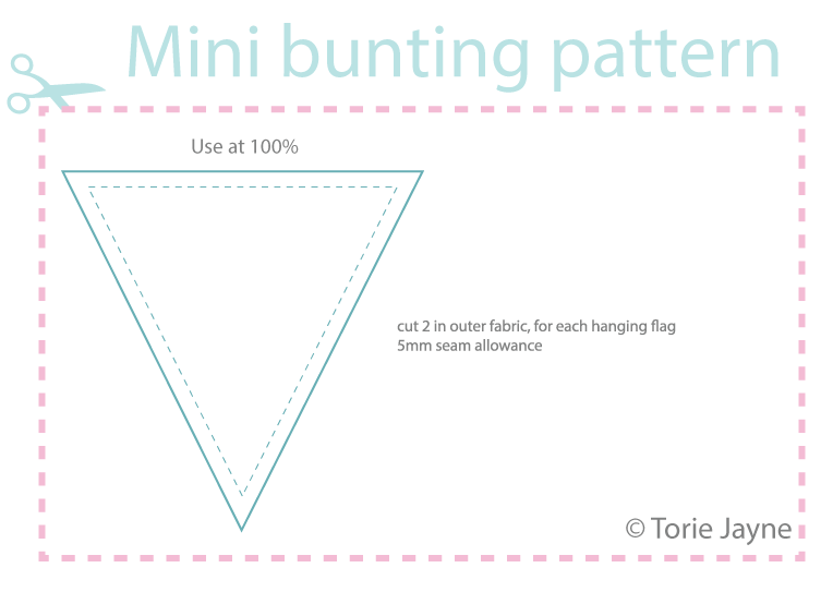 Downloadable Mini Bunting Pattern Torie Jayne