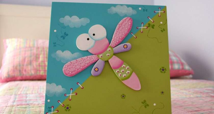 Dragonfly Wall Decor Girl Room Vadavelle Etsy