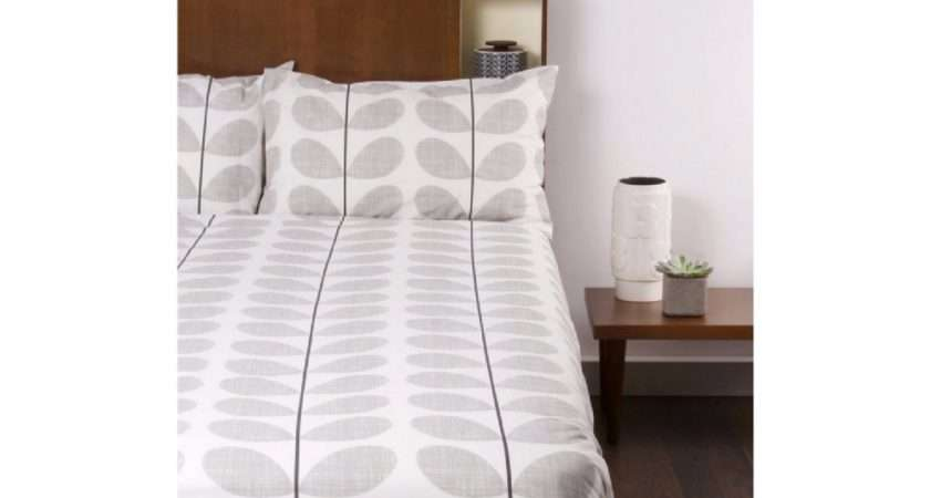 Drum Lampshade Orla Kiely Grey Scribble Black Stem Sizes Available