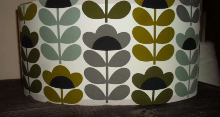 Drum Lampshade Sweet Pea Various Sizes Available Wide