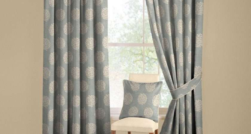 Duck Egg Blue Lined Pencil Pleat Curtains Curtain