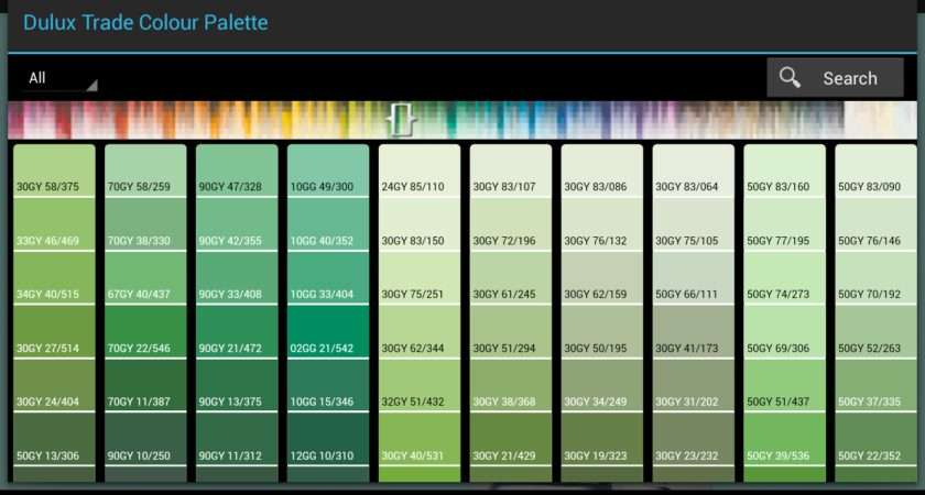 Dulux Green Paint Color Chart