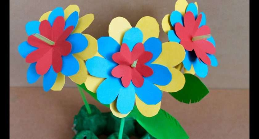 Easy Paper Craft Make Flowers Youtube