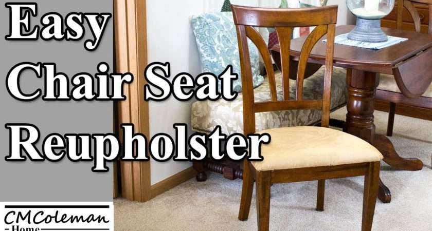 Easy Way Reupholster Chair Seat Youtube