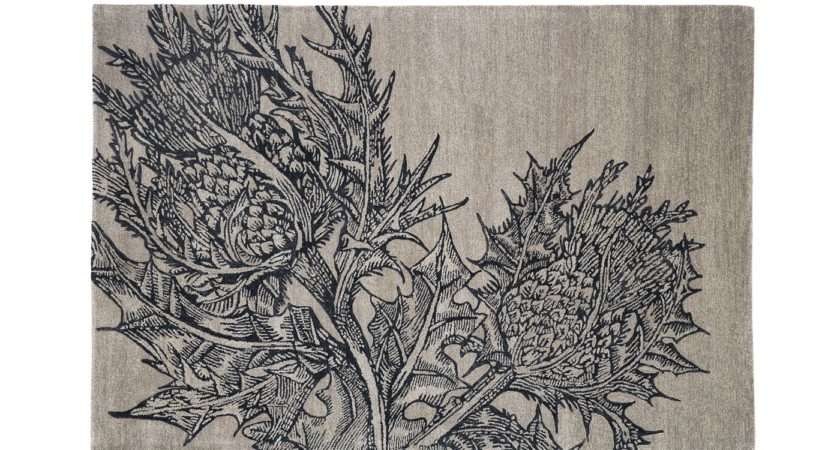 Editions Christopher Farr Thistle Rug Stone