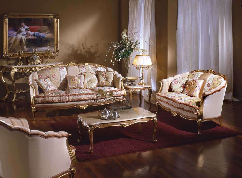 Elegant Living Room Classic Country French Furniture
