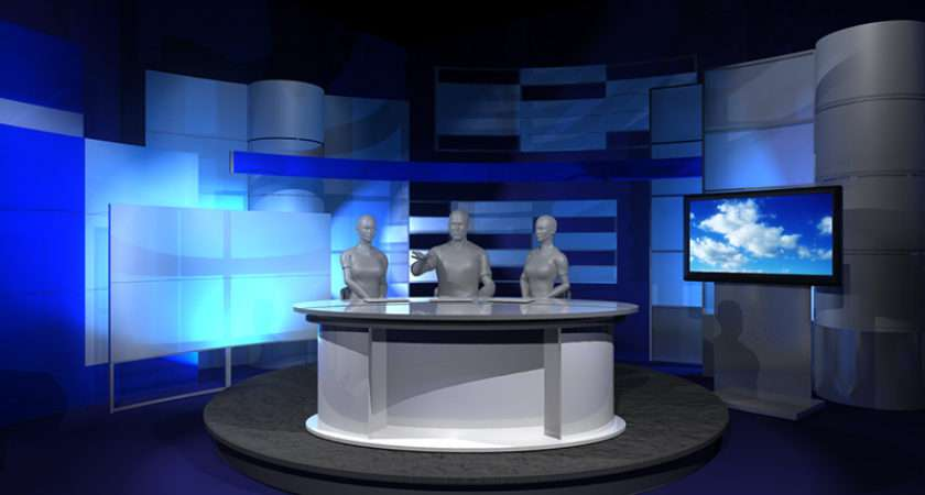Elliptic News Desk Studio Design