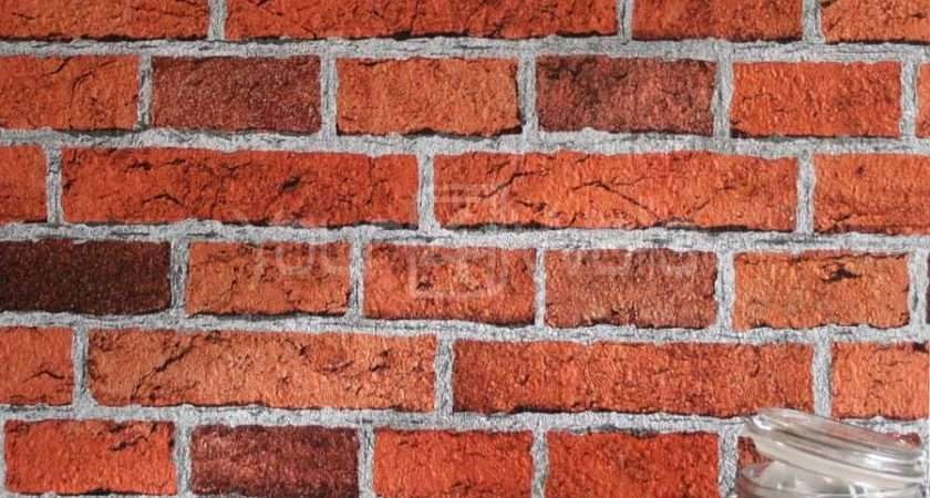 Embossed Realistic Textured Brick Effect