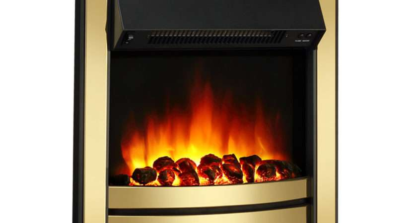 Endeavour Fires Roxby Inset Electric Fire Brass Trim