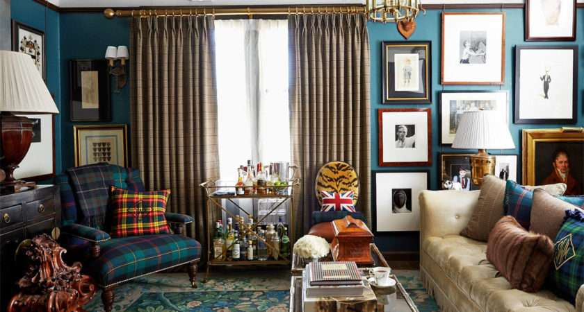 English Country Style Living Room Decorate