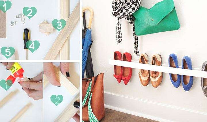 Entryway Shoe Organizer Diy Storage Ideas Small Spaces