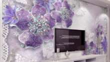 European Style Purple Flower Jewelry Mural