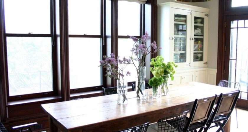 Everyday Table Centerpiece Ideas Bright Eclectic Dining Room