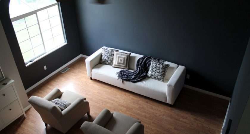 Everything Living Room Painted Dark Moody Charcoal