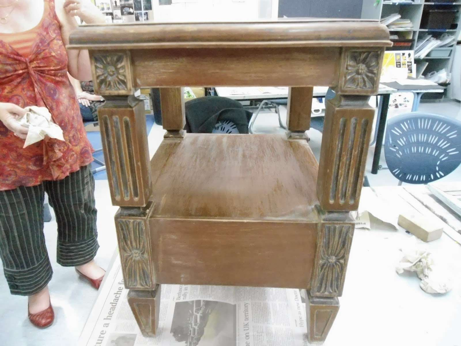 Everythings Arty Next Shabby Chic Course Distressing Furniture