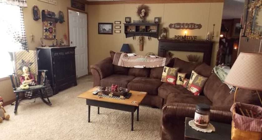 Example Manufactured Home Decorating Using Primitive Country