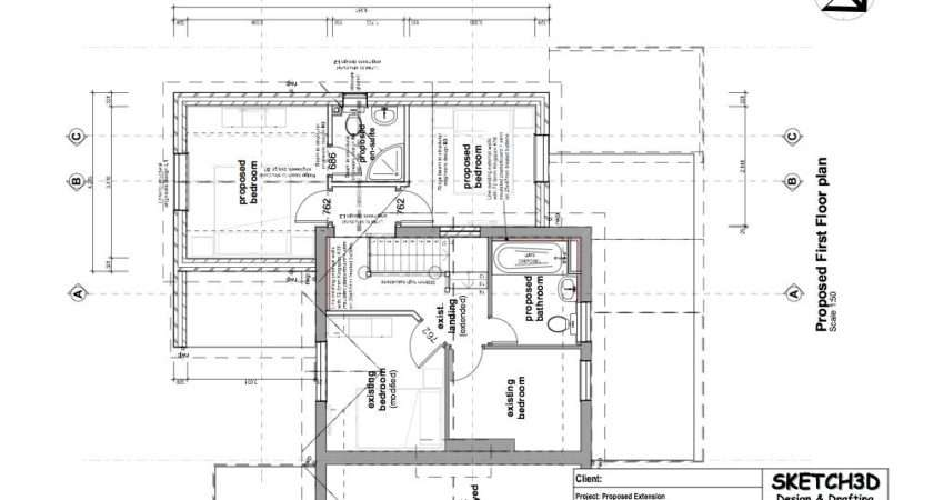 Example Two Storey House Extension Plans Design