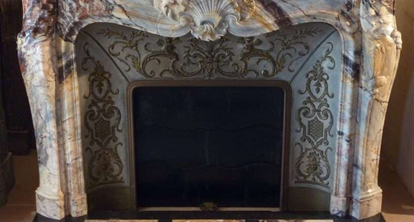Exceptional French Louis Style Marble Fireplace Surround