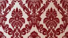 Exclusive Casablanca Velvet Flock Red Gold Damask