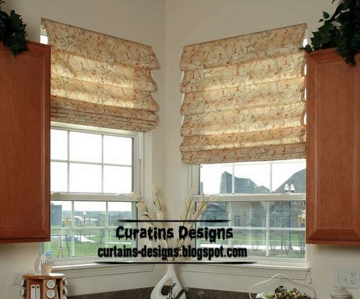 Exclusive Roman Shades Designs Kitchen Blinds
