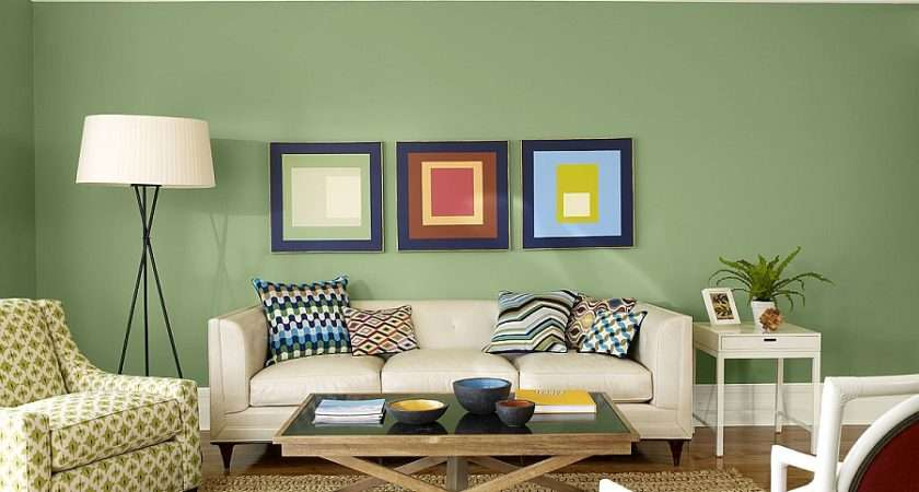 Exquisite Sage Green Living Space Rooms