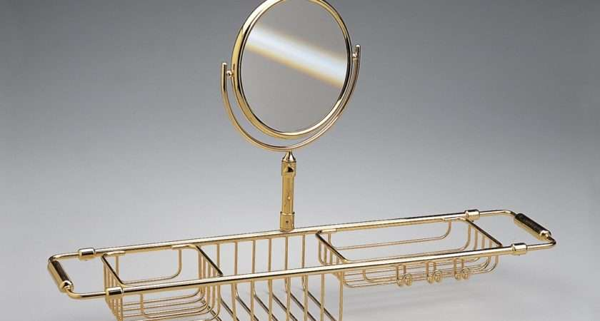 Extendable Bath Rack Mirror Made Solid Brass