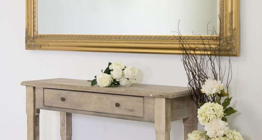 Extra Large Gold Antique Style Wall Mirror Wood