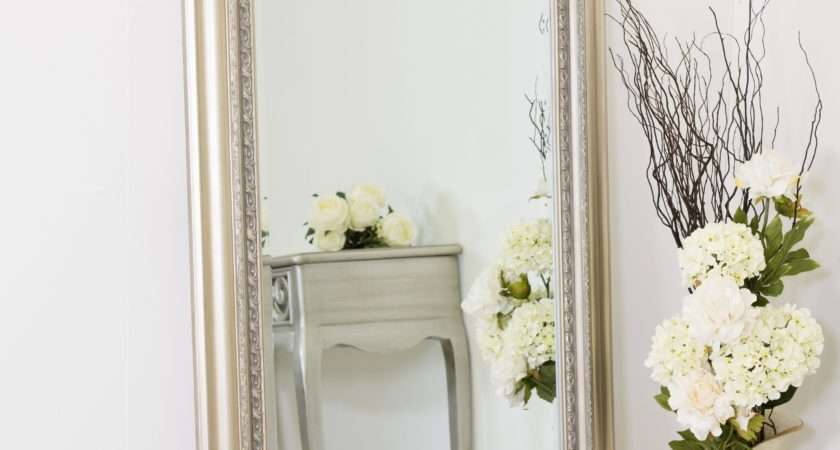 Extra Large Silver Antique Style Wall Mirror Wood