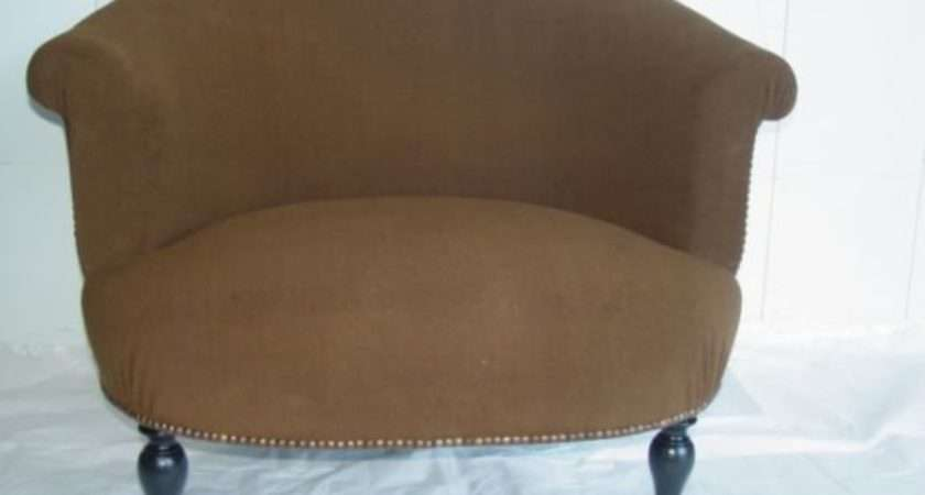 Extra Wide Upholstered Barrel Back Armchair Stdibs