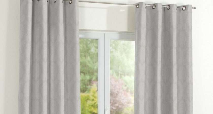 Eyelet Curtains Light Grey Absolute Home