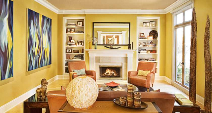 Fab Living Room Designs Yellow Accent Home