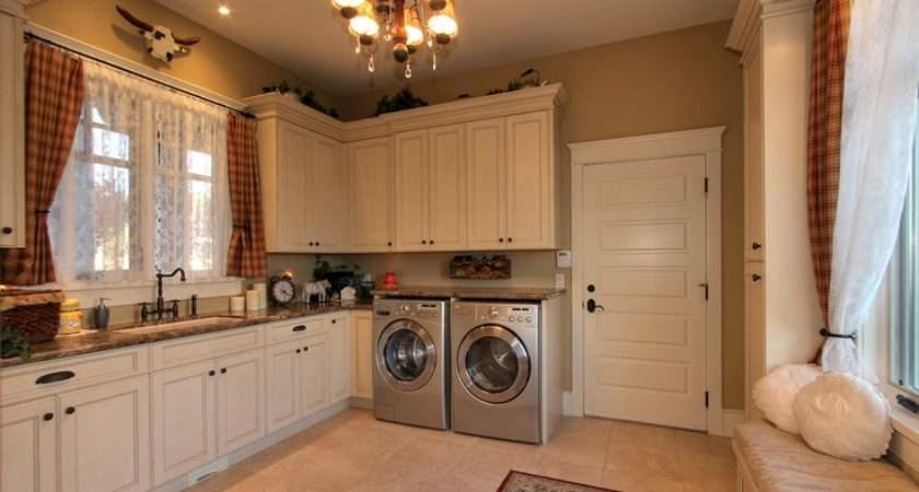 Fabulous French Country Laundry Room Marble Counter Tops