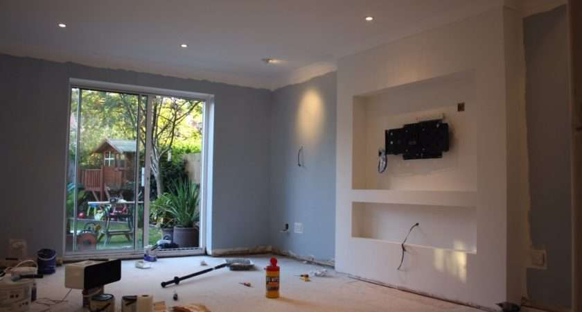 False Chimney Breast Install Lounge Inch Carpentry